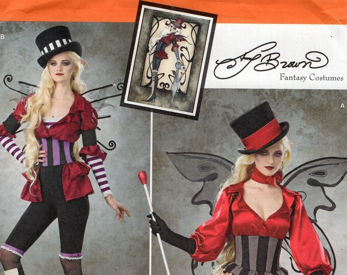 Free USA Shipping Simplicity Sewing Pattern 1301 Misses Amy Brown Fantasy Goth Costume Size 6/14 14/22 plus Bust 30 31 32 34 36 38 40 42 44
