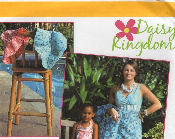 Simplicity 1891 Free Us Ship Sewing Pattern Daisy Kingdom Mother Daughter Matching Dress Purse Floppy Hat Size 8/18 2/6 Uncut New FF
