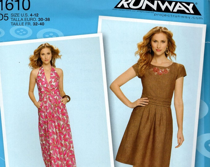 FREE US SHIP Simplicity 1610 Project Runway Dress Designer Series Size 4/12 12/20 Bust 29 30 31 32 34 36 38 40 42 Sewing Pattern