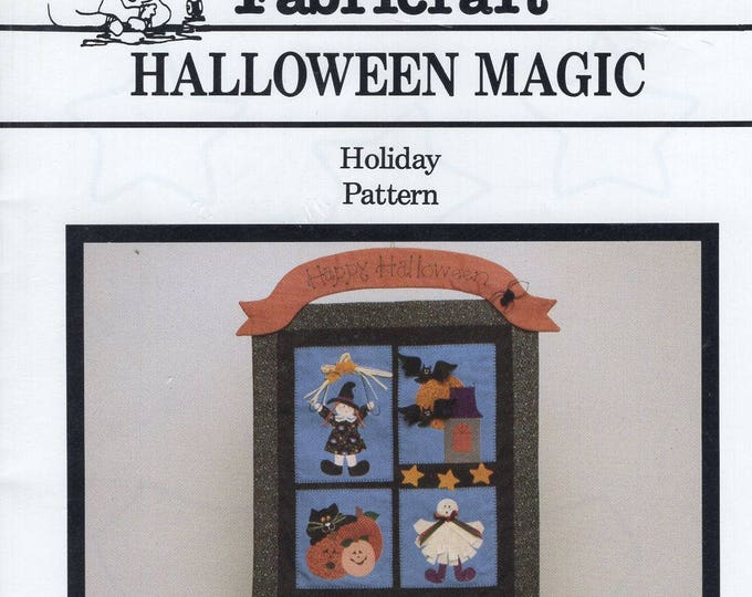 Free Us Ship Fabricraft 7330 Halloween Magic Holiday Quilt Craft Sewing Pattern 1993 Judith Haroutunian Designer New Unused Ghost Black Cat