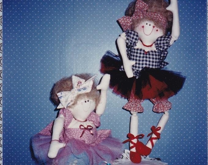 "FREE US SHIP  Country Quayle Craft Sewing Pattern  New 1990  Carole Quayle 26"" Ballet Dance Dolls Tu Tu Ta Lou Whimsical"