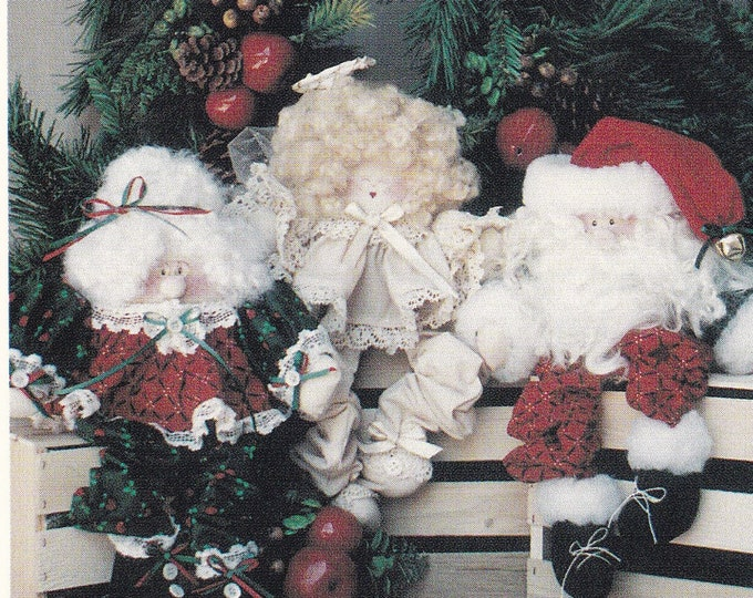 FREE US SHIP Out of Print Unused Craft Christmas Santa Claus Mr Mrs Dolls Angel Ginger Snap Junction Jolly Holiday Egg Noggins 1993