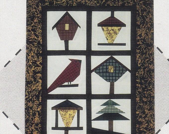 FREE US SHIP Craft Sewing Pattern Eileen's Design Studio 1995 Set 6 Backyard Wildlife Quilt Paper Foundations Bird House Feeders Cardinal
