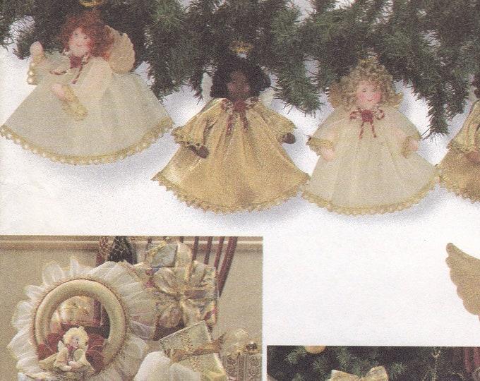 FREE US SHIP Simplicity 7938 Sewing Pattern Shirley Botsford Christmas Ornaments Angel Doll Garland Tree Skirt Decorations New Uncut