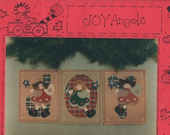 Craft Sewing Pattern Free Us Ship Uncut Friends JOY Angels Wall Quilt Uncut Christmas 1993 Sherry Connors
