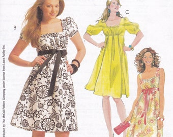 40031394d6 Sewing Pattern McCall s 5619 Designer Laura Ashley Pattern Summer empire  Dress New Old Store Stock Choose Size 2008