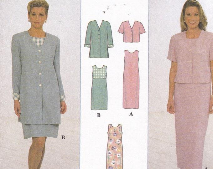 FREE US SHIP Simplicity 7965 Sewing Pattern Uncut Retro 1990s 90's Girls Empire Dress Jacket Essentials 8 10 12 Bust 31.5 32.5 34 Uncut