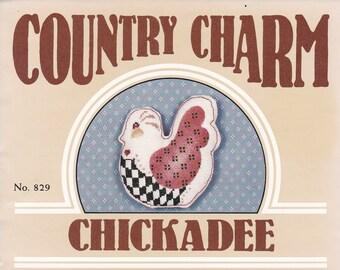 FREE US SHIP Donna Gallagher Creative hearts Craft Sewing Pattern Chickadee Cross Stitch Stencil Quilting Chicken Hen Farm unused