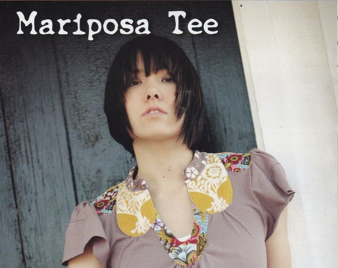 FREE US SHIP Sewing Pattern  Uncut Custom Design Your own Blouse Mariposa Tee Pullover Bohemian Sew Liberated Bust 32 34 36 Tissue Pattern