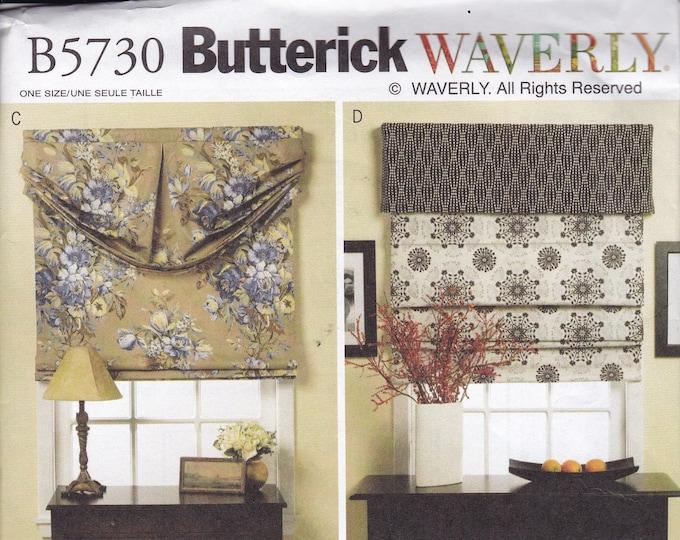 FREE US SHIP  Butterick 5730  Waverly Window Treatments Sewing Pattern Valance Roman Shades Factory Folded Drapery