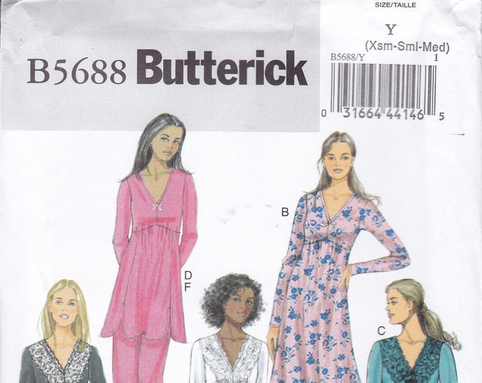 FREE US SHIP Butterick 5688 Lingerie Nightgown Pajamas pj's Size 4/14 16/26 Plus Waist 22-48 Sewing Pattern