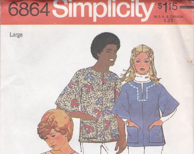 FREE US SHIP Simplicity 6864 Sewing Pattern JIffy Boy Girl Kimono Sleeve Bohemian Tunic top Size xsm,sm,med, large Factory Folded