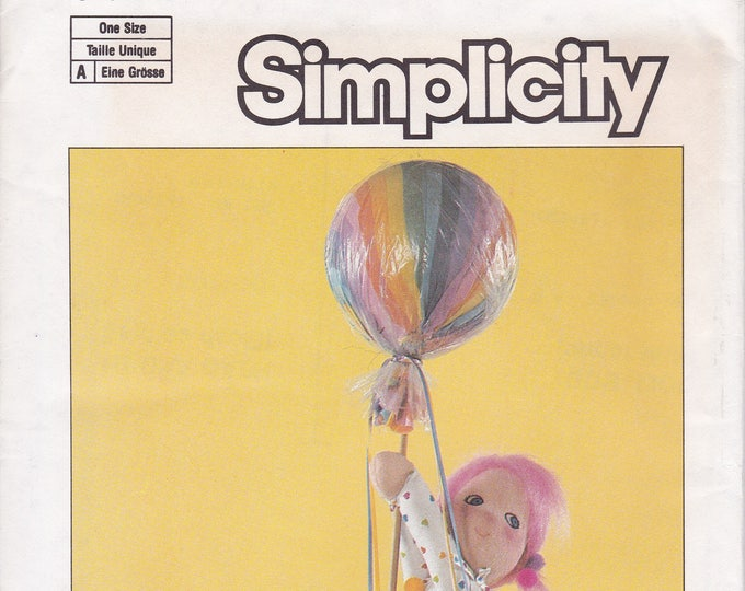 FREE US SHIP Simplicity 6876 Vintage Retro 1980s 80s Margie Tone Moon Babies Cloth Doll and Lollipop Factory Folded Like New!