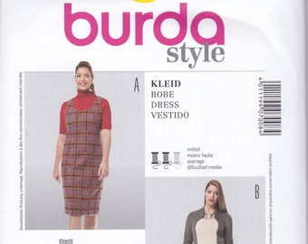 4e34aa425a9 FREE US SHIP Burda 7008 Sewing Pattern Jumper Dress Size 18 20 22 24 26 28  Bust 40 42 44 46 48 50 plus size Uncut Factory Folded