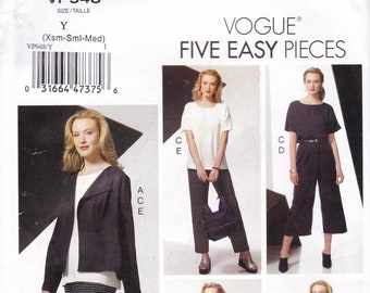 FREE US SHIP Vogue 948 9246 Separates Wardrobe Suit Coat Top Skirt Pants Size  4/14 16/26 Bust 29 30 32 34 36 38 40 42 44 46 48 New