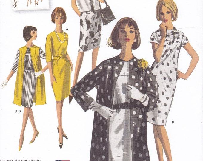 FREE US SHIP Simplicity 1284 Vintage Retro 1960s 60s Kimono Dress Coat Ensemble Reproduction Sewing Pattern Uncut Size 6-22 Bust 30-44 Plus