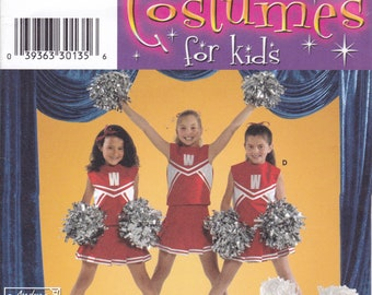 FREE US SHIP  Sewing Pattern Simplicity 4040 Cheer Cheerleader Uniform Costume Uncut Girls Size 8 10 12 Factory Folded Halloween School