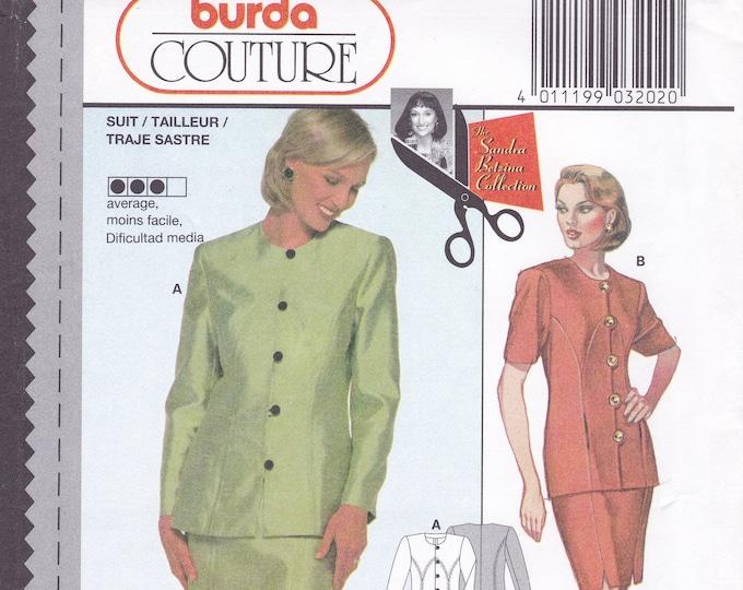 FREE US SHIP Burda 3202 Sewing Pattern Top Jacket Skirt Size  8 10 12 14 16 18 Bust 31 32 34 36 38 40 Uncut Factory Folded