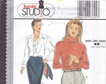 FREE US SHIP Sewing Pattern Burda 3694 Size 10 12 14 16 18 20 22 24 26 28 waist  Plus UncutSuit Jacket Skirt Blouse Couture