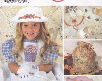 FREE US SHIP Simplicity 7053 Girls Dress Ribbon Embroidery 1996  Size 2 3 4 5 6 6x Sewing Pattern Uncut New