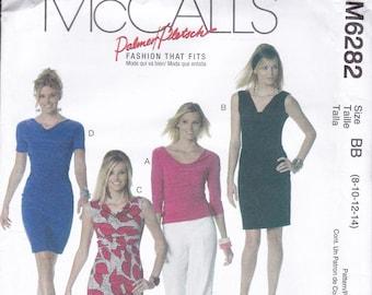 FREE US SHIP McCall's 6282 Sewing Pattern Palmer & Pletsch Wiggle Dress Blouse Size 8/14 16/22 Bust 31.5 32.5 34 36 38 40 42 44  new