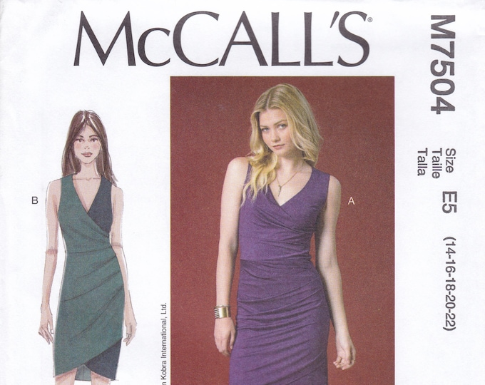 FREE US SHIP McCall's 7504 Sewing Pattern Nicole Miller Wiggle Dress Size 6 8 10 12 14 Bust 30.5 31.5 32.5 34 36 6/14 Factory Folded