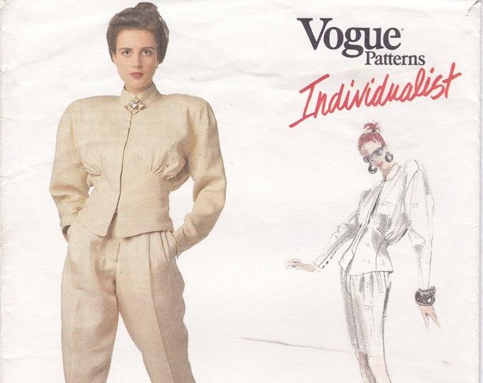 FREE US SHIP Vogue Sewing Pattern 2027 Individualist Designer Claude Montana Dress Uncut Size 8 Bust 31 Vintage Retro 1980s 80s 1988 Uncut