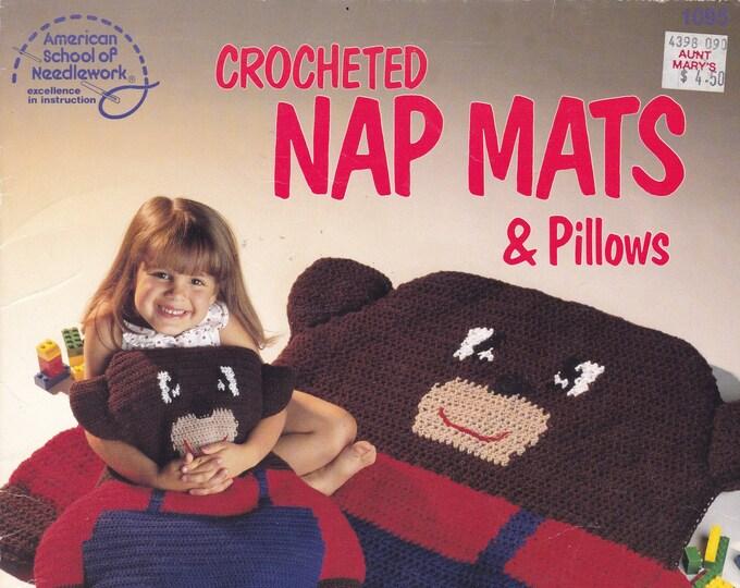 Free Us Ship Vintage Crochet Pattern Book Leaflet American School of NeedleWork Joyce Vanderslice 1990 Rug Matching Pillow