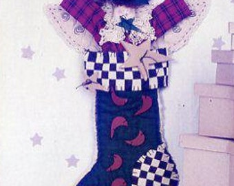 FREE US SHIP Design Farm Twinkle Twinkle Blessed Star Primitive Doll Sock Stocking Raggedy Doll Out of Print Holiday Fun Whimsey