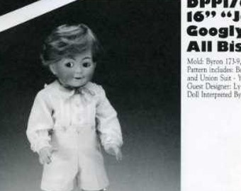 """FREE US SHIP Poissot Doll Dress Pattern Retro 1990's dpp176 16"""" Boy Doll Clothes Sewing Pattern Insert From Dollcrafter Vintage Magazine"""