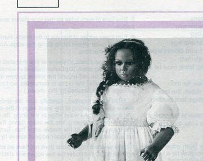 """Free usa Ship Seely's Modern Doll Art KATARINA DRESS 25"""" 1996 New Craft Out of Print Old Store Stock Sewing Pattern"""
