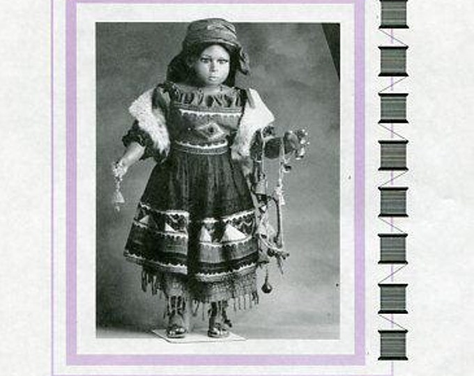 Free usa Ship Seely's Modern Doll Art GYPSY COSTUME 1996 P010 New  Out of Print Old Store Stock Sewing Pattern