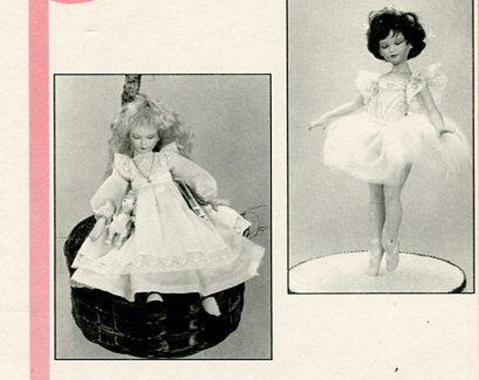 Free usa Ship Seely's CP921 Dollmakers Pattern Alice in Wonderland.Ballerina 10.5 1991 Costume  Out of Print Old Store Stock Sewing Pattern