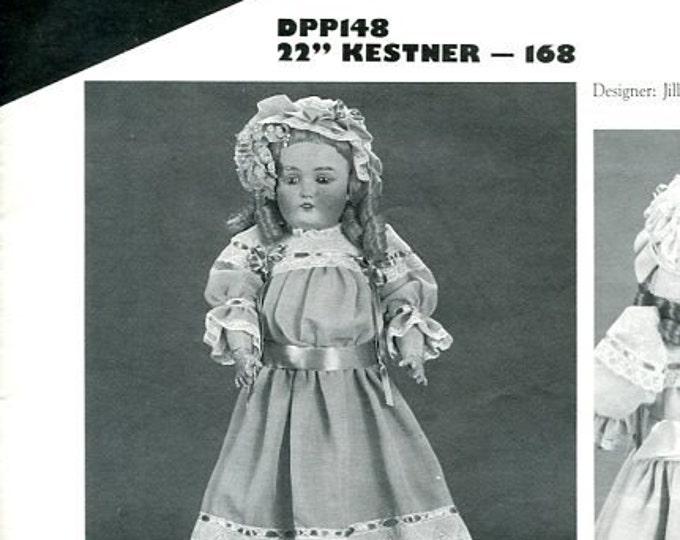 "FREE US SHIP Poissot Doll Dress Pattern 1988 dpp148 22"" Kestner Jill Sanders Vintage Insert From Dollcrafter Vintage Magazine"