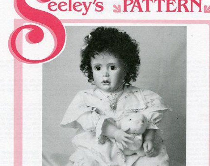 """Free usa Ship Seely's Dollmakers Pattern 23.5"""" Kitty's Playsuit Doll Clothes Wardrobe Craft Out of Print Old Store Stock Sewing Pattern"""