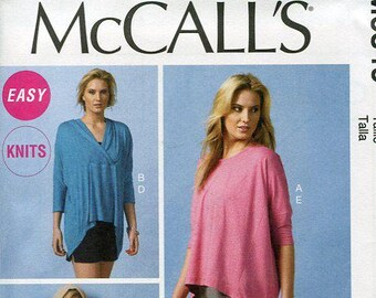 FREE US SHIP McCall's 6849 Caftan Tunic Hoody Tops Size 4/14 Bust 29 30 32 34 36 (Last size left) New Sewing Pattern Unused Out of Print