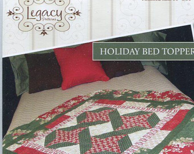 Free Usa Shipping Craft Pattern Legacy Patterns Holiday Bed Topper Quilt Out of Print  Old Store Stock Sewing Pattern New Condition