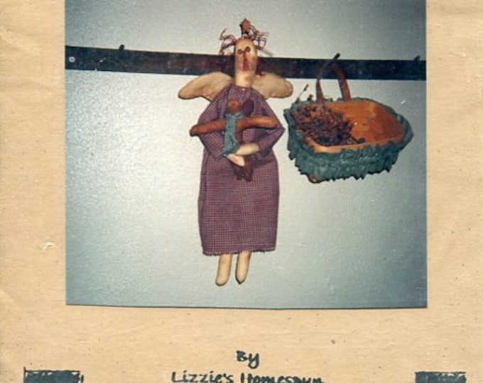 FREE US SHIP Lizzie's Home Spun Primitive Folk Art Doll Annie and Ginger Basket Old Store Stock Sewing Pattern Ragdoll cloth