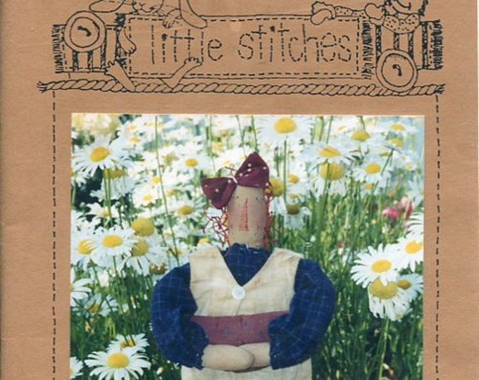 "FREE US SHIP Little Stitches 359 Melon Patch Annie Doll 18"" Primitive Old Store Stock Sewing Pattern Ragdoll cloth"