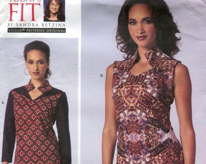 """FREE US SHIP  Vogue 1429 Sandra Betzina Designer Funky Top Blouse Stan up Collar 32- 55"""" Bust New Sewing Pattern Out of Print"""