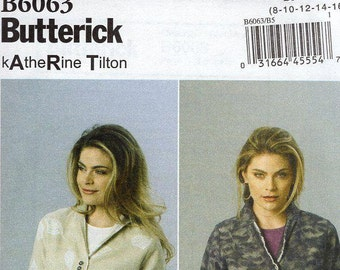 FREE US SHIP Butterick 6063 Designer Katherine Tilton Raw Edge Finish Jacket Size 16/24 Bust 38 40 42 44 46 Sewing Pattern (Last size left)