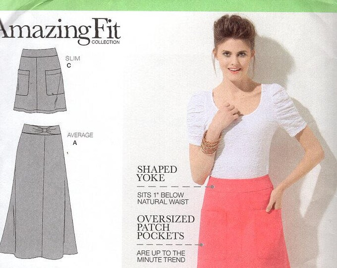FREE US SHIP Simplicity 1717  Amazing Fit Sewing Pattern Skirt Mini to Maxi  Uncut Size 6/14 (Last size left)  Bust Waist 23-37