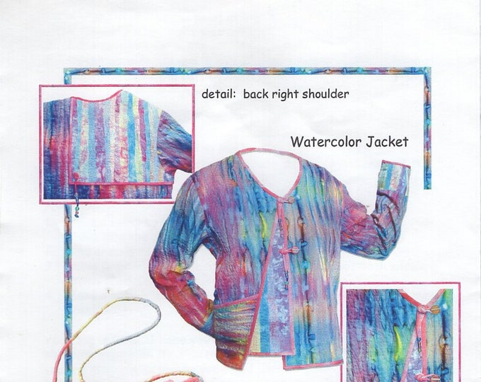 Off The Bed Quilted Clothes Watercolor Jacket Bag Purse Fashion Free Us Ship  XS to XXL Sewing Pattern Bust 31-42