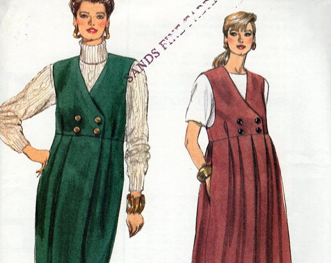Free Us Ship Sewing Pattern Vogue 7926 Retro 1990s 90's 1991 Double Breasted Maternity Jumper Size 8 10 12 14 16 18 Bust 31 32 34 36 38 40