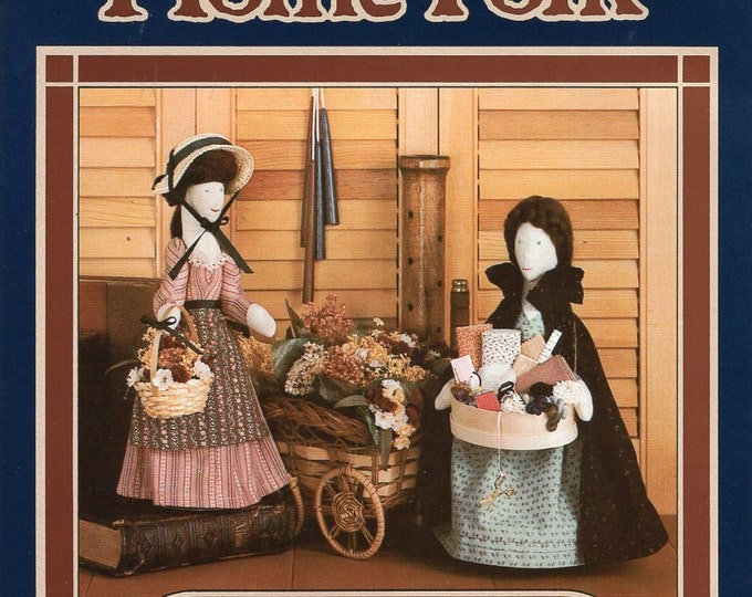FREE US SHIP Donna Gallagher Creative hearts Craft Sewing Pattern Home Folk Art 838 Dolls Peddlar Women Flower Notion Nanny Seamstress 1985