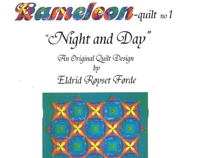 Eldrid Royset Forder Designer Kameleonquilt No 1 Night and Day 1999 Free Us Ship Quilt Craft Sewing Pattern
