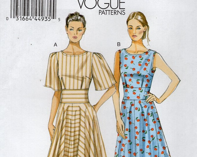 Vogue 8895 Free Us Ship Sewing Pattern Midriff Dress Size 8/16 8 10 12 14 16  Bust 30 32 34 36 38 (Last size left)  Uncut Out of Print 2013