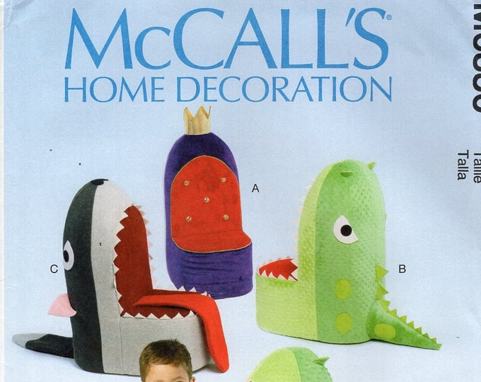 McCall's 6856 Free Us Ship Sewing Pattern Children's Toddler Whimsey Chair Shark Fish Dinosaur Throne New Out of Print