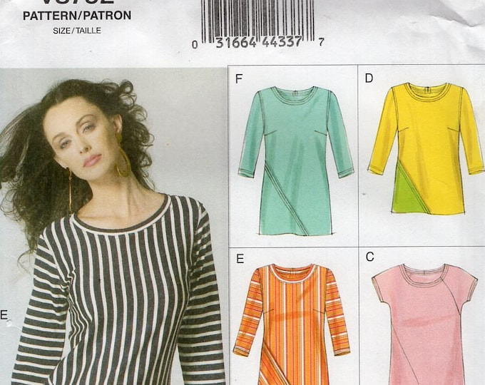 Vogue 8792 Free Us Ship Bias Pullover Top Sewing Pattern Size 6/14  Bust 30 31 32 34 36 (Last size left) Plus Uncut Out of Print 2012