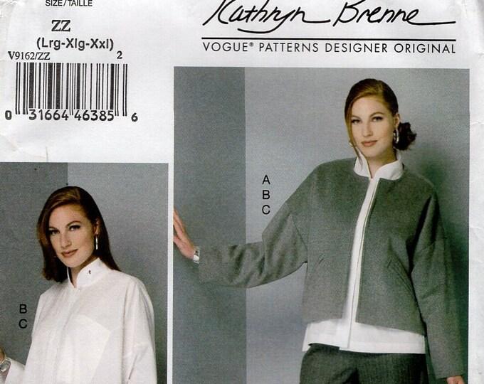 Vogue 9162 Sewing Pattern Free Us Ship Designer Top Pants Kathryn Brenne Size 4/14 16/22 Bust29 30 32 34 3638 40 42 44 46 48 plus size